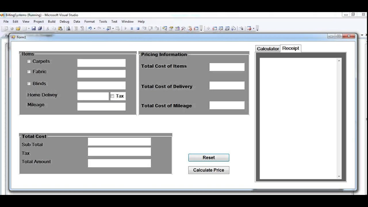 How To Create Billing System Project In Visual Basic Net