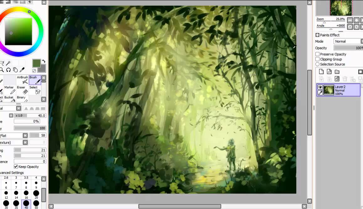 Paint Tool Sai Leaves Tutorial