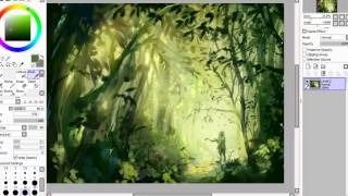 SAI Speedpaint   The Forest Stray