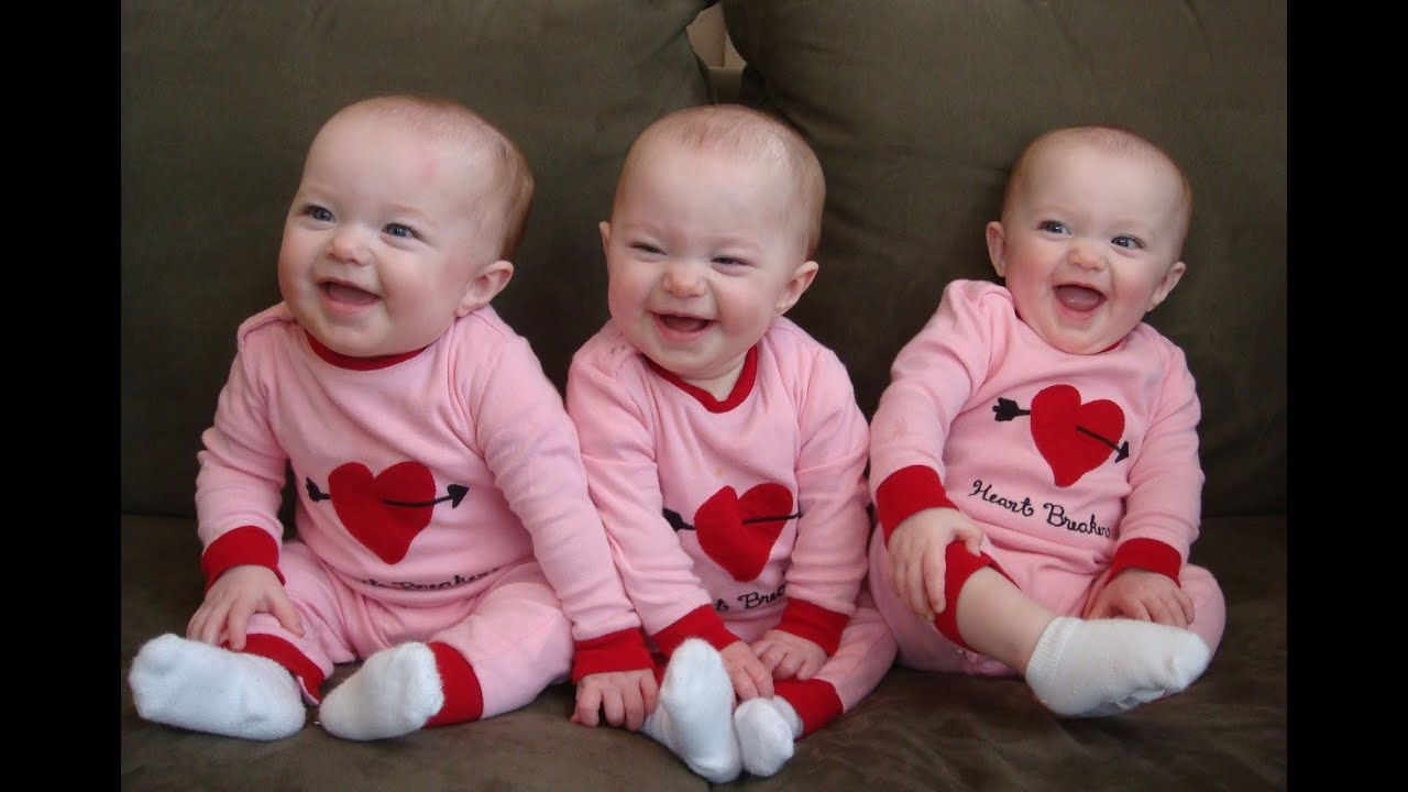 Funny And Cute Triplet Babies Laughing Video Compilation ...