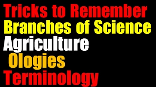 Video Tricks on  Science Terminology |Branches of Science | Based on Previous papers  UPSC| SSC | Railway download MP3, 3GP, MP4, WEBM, AVI, FLV Agustus 2018