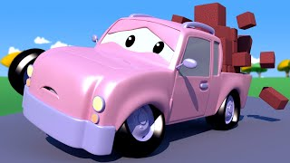 Çekici Tom -  Pikap Pickle'ın Lastikleri Patlıyor - Araba şehri 🚗 Çocuklar için çizgi filmler