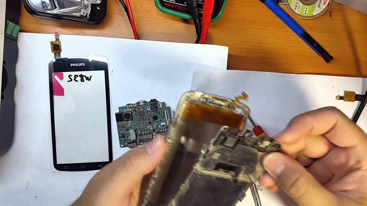 Philips Xenium W6610 как разобрать и замена дисплейного модуля .