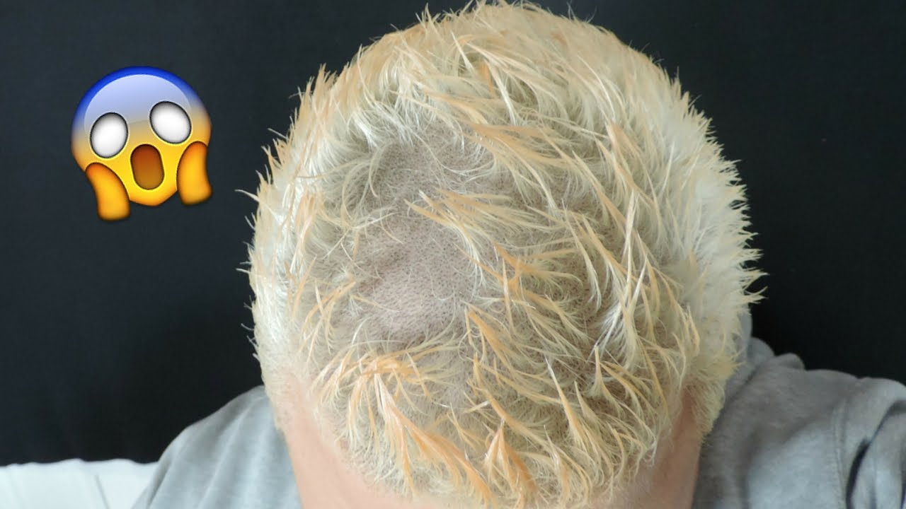 BURNED MY HAIR OFF BLEACHING EPIC FAIL YouTube