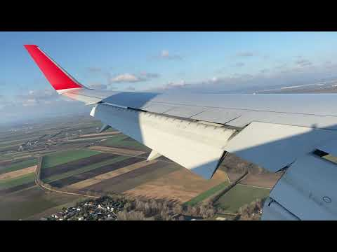 Austrian Airlines 767-300W SCENIC MORNING Landing at Vienna