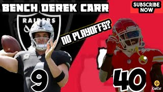 RAIDERS GET WHIPPED BY THE CHIEFS 40 TO 9