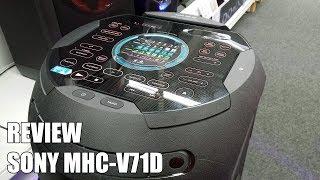 Review Sony MHC-V71D Nuevo Altavoz Bluetooth para fiestas 2018