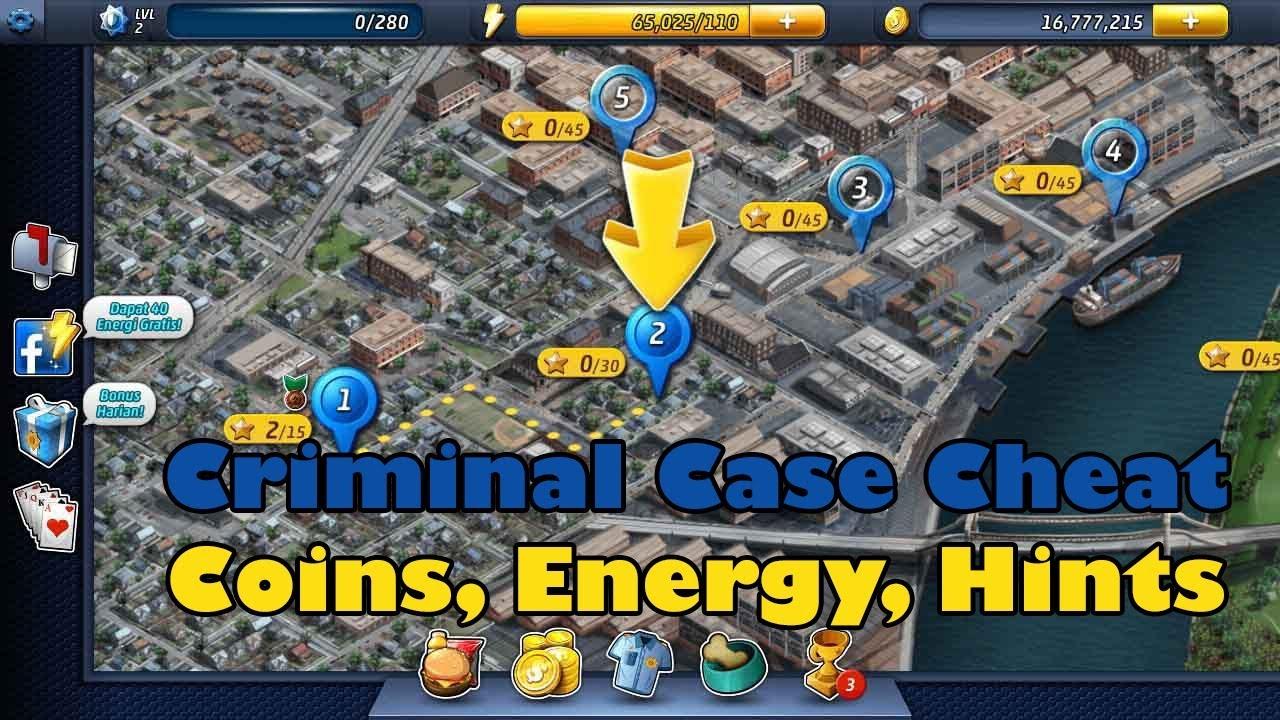 Criminal Case Hack 2018 New Version Cheat Coins Hints Energy