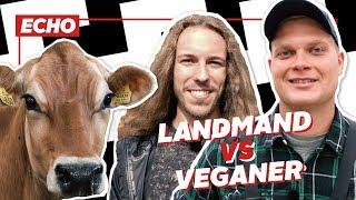 En landmand og en veganer snakker bæredygtighed
