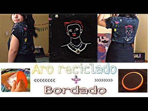 Aro reciclado 😍 / DIY / mini tutorial de bordado 🇵🇪/ Fácil , Rápido y bonito
