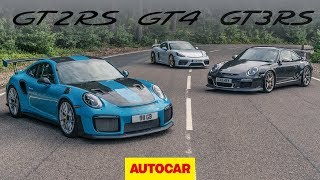 Greatest Porsche GTs: 718 Cayman GT4 meets 911 GT2 RS and GT3 RS | Autocar heroes