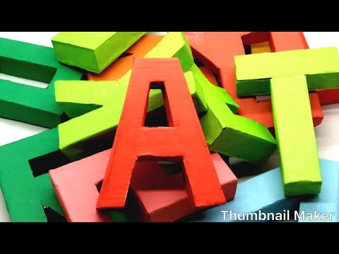 How to Make 3D Alphabet Letters with Paper | 3D Letter DIY | 5 Minutes Crafts & Toys