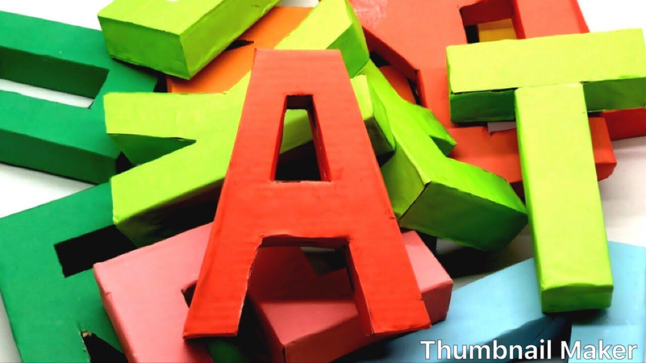 3d Letter Diy.How To Make 3d Alphabet Letters With Paper 3d Letter Diy