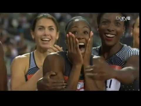 Kendra Harrison breaks 100 meter hurdles WORLD RECORD in 12.20 seconds!