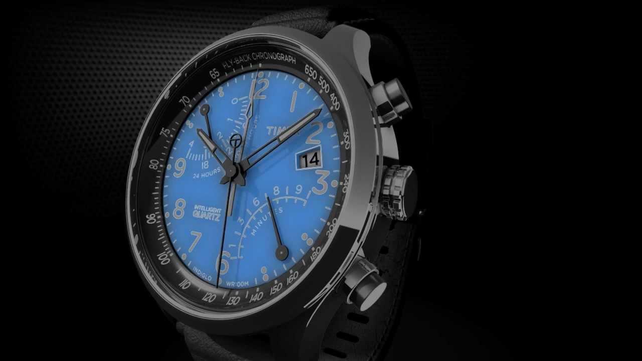 Timex Intelligent Quartz Flyback Chronograph: INDIGLO ...