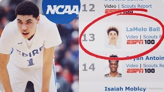 LaMelo Ball Has Officially Been RANKED In The Class Of 2019! | ESPN Top 100 & NCAA Eligibility