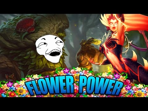 IVERN + ZYRA FLOWER POWER BOTLANE! - League of Legends