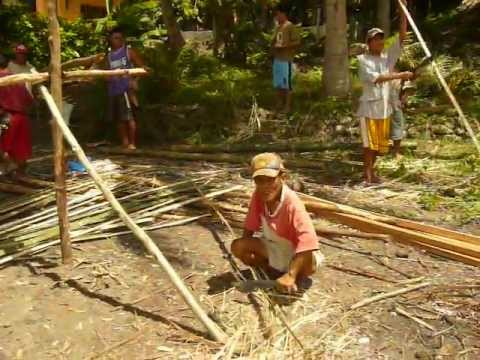Building a native  hut (Pt 1) in Garcia-Hernandez Bohol - Purok 6 Malinao