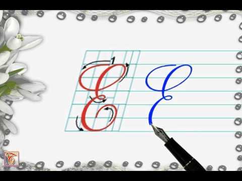 Luyện viết chữ đẹp - Chữ hoa E viết nghiêng - How to write capital letter E