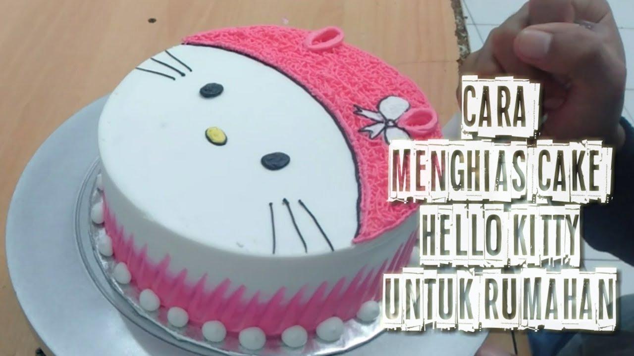 Cake Hello Kitty Cara Membuat Gambar Hello Kitty Sederhana Cocok Buat Anak Anak Youtube