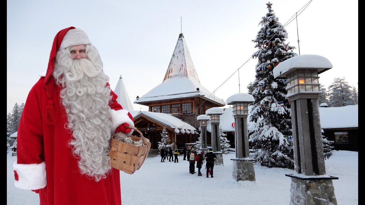 Rovaniemi Lapponia Babbo Natale.Villaggio Di Babbo Natale A Rovaniemi In Lapponia Prima Di Natale Santa Claus Messsaggio Finlandia