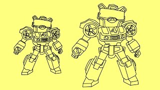 How to draw Angry Birds Transformers Jazz | Bubbles as Jazz