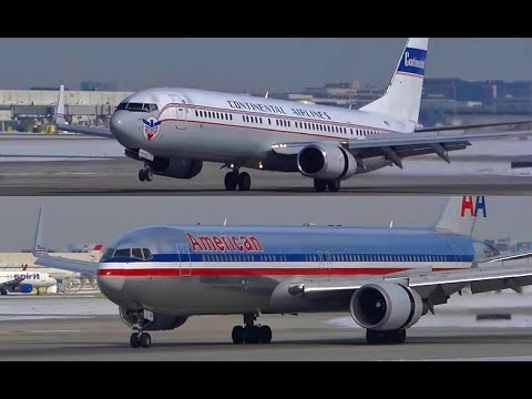(HD) 30+ Minutes HD Plane Spotting - West Flow - Chicago O'Hare International Airport