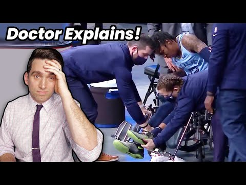 Doctor Reacts to Ja Morant PAINFUL Ankle Injury & Getting Wheeled off the Court!