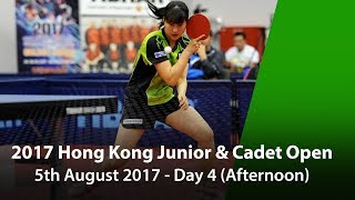 2017 ITTF Hang Seng Hong Kong Junior & Cadet Open - Day 4 (Afternoon) thumbnail