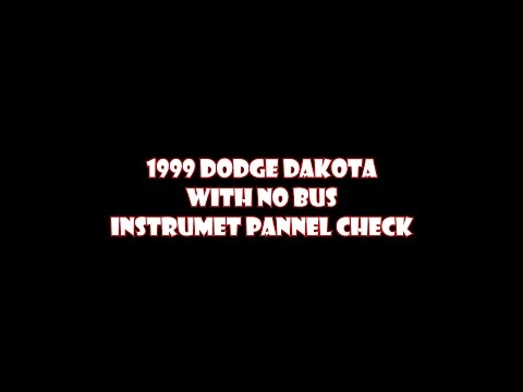 1999 Dodge Dakota Instrument cluster check