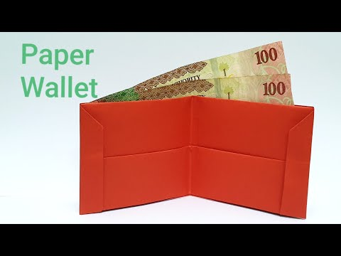 How to make paper wallet, origami paper purse, easy DIY