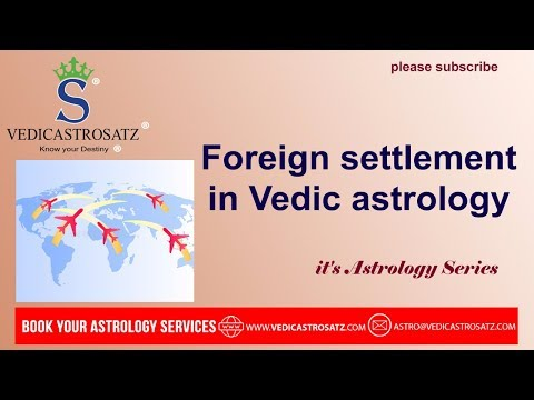 Foreign Settlements in Vedic Astrology