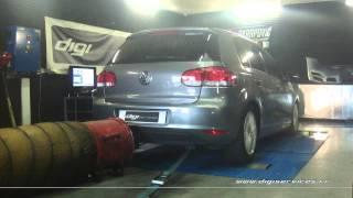 Reprogrammation Moteur VW Golf 6 tdi 110cv @ 183cv Digiservices Paris 77183 Dyno