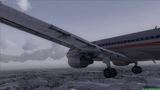 A320 American landing at Kansas City - [Runsame Classics] FSX