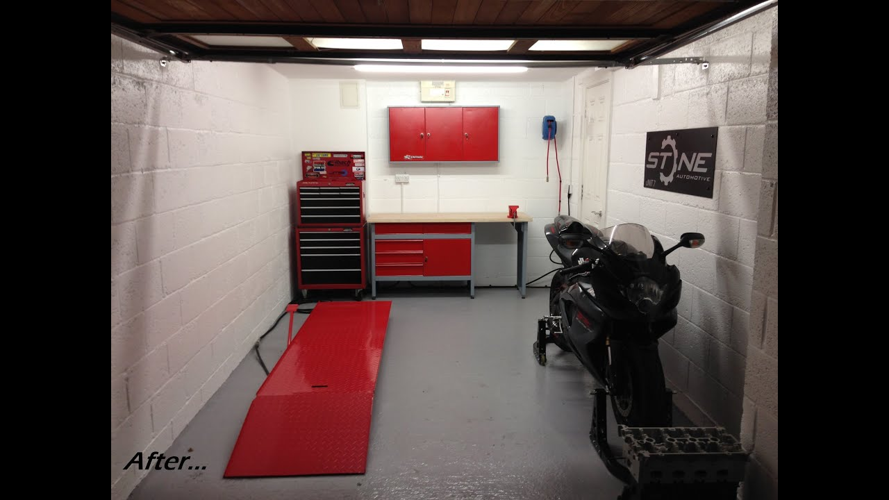 how to turn your garage into a workshop - YouTube