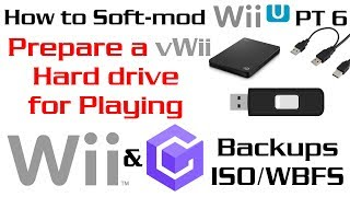 How to Soft-Mod WiiU - Pt 6 - Setup vWii Hard Drive for GCN & Wii Backups + Rip Wii Discs