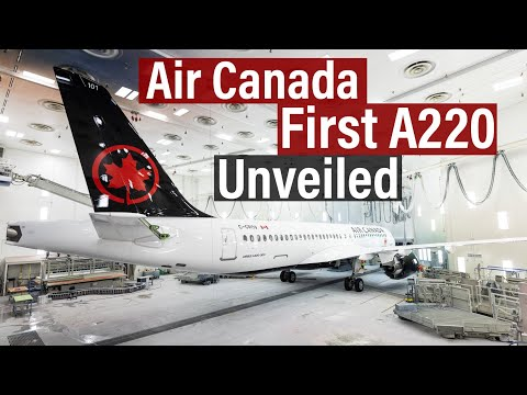 First Air Canada A220 Unveiled