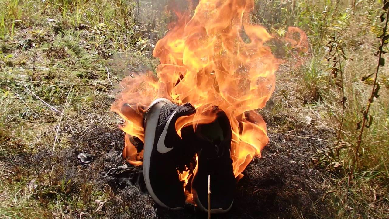 Nike women's shoes in the fire! - YouTube