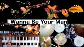 I Wanna Be Your Man   Instrumental Cover w/ Lyrics + Chords   Guitars, Bass and Drums