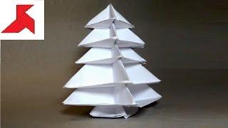 Как сделать модульную оригами ЁЛКУ (ёлочку) из бумаги А4, своими руками?(Инструкция к модульному оригами о том, как сделать объемную новогоднюю ёлку своими руками из шести листов..., 2016-12-15T12:59:39.000Z)