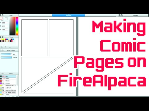 Making Comic Pages on FireAlpaca/Medibang - YouTube