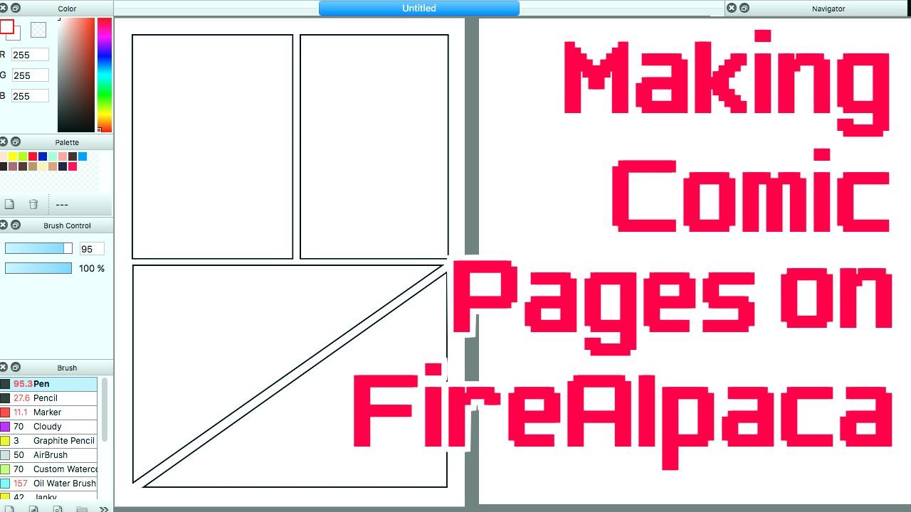 making comic pages on firealpaca medibang youtube