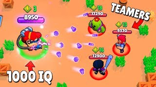 1000 IQ PRO vs -10 IQ TEAMERS! (Brawl Stars Fails & Epic Wins! #4)