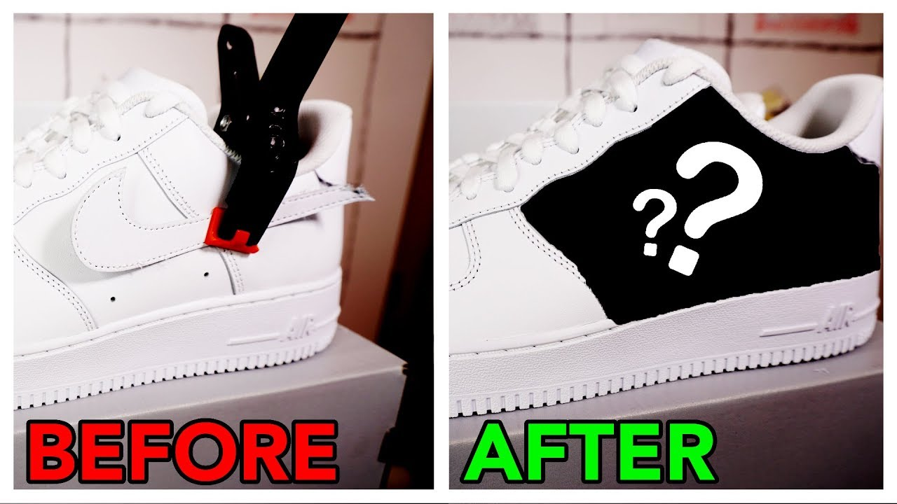 70ec50beb4b How to Remove the 'Swoosh' from Nike Air Force 1s - YouTube