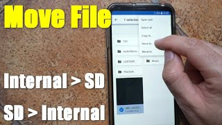 How to move file from Internal Storage to SD card (Android, 2 File Manager apps) screenshot 1