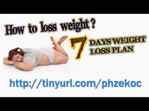 how to weight loss in 7 days