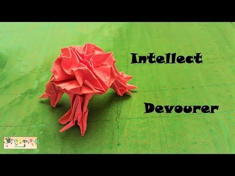 How to fold an Intellect Devourer - A DnD Origami tutorial