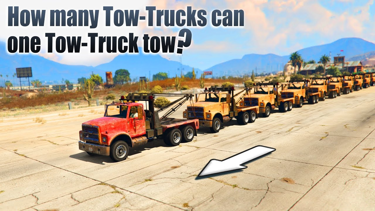 gta v how many tow trucks can one tow truck tow youtube. Black Bedroom Furniture Sets. Home Design Ideas