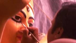 Eyes drawing of Durga Idol - Part III