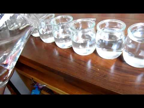 Glass jar xylophone for a Science or Music experiment.